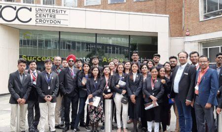 Visit to Croydon University