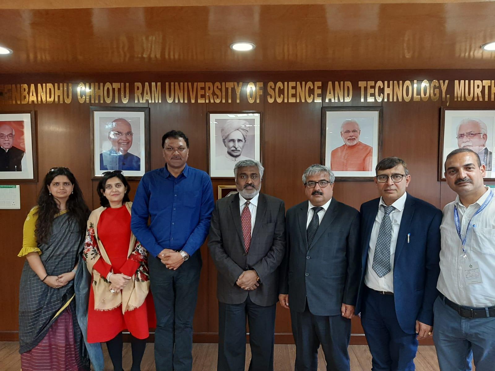 MOU with Haryana Government- Deenbandhu Chottu Ram University Of Science And Technology at Murtha